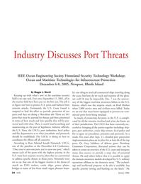 Marine Technology Magazine, page 34,  Jan 2006 Maggie L. Merrill