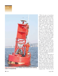 Marine Technology Magazine, page 44,  Jan 2006 Gulf of Mexico