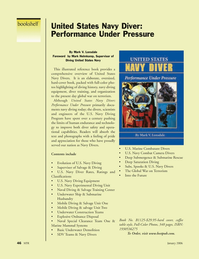 Marine Technology Magazine, page 46,  Jan 2006 Ratings and Classifications U.S. Navy Diving Equipment U.S. Navy Experimental Diving Unit