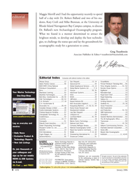 Marine Technology Magazine, page 4,  Jan 2006 alpha