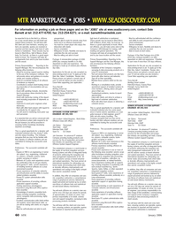 Marine Technology Magazine, page 60,  Jan 2006 software application support essential