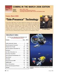 Marine Technology Magazine, page 64,  Jan 2006 Larry Mayer