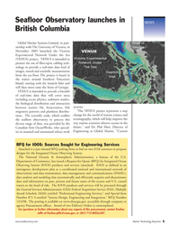 Marine Technology Magazine, page 5,  Jan 2006 Victoria Experimental Network Under