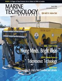 Marine Technology Magazine Cover Mar 2006 - AUVs; ROVs; UUVs