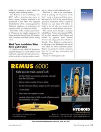 Marine Technology Magazine, page 12,  Mar 2006 10X mission