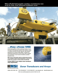 Marine Technology Magazine, page 16,  Mar 2006 multibeam sonar systems