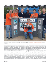 Marine Technology Magazine, page 35,  Mar 2006 University of Florida