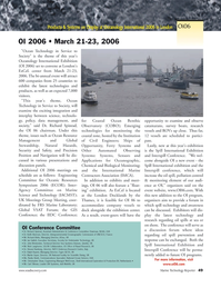 Marine Technology Magazine, page 47,  Mar 2006 ocean technology