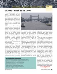 Marine Technology Magazine, page 47,  Mar 2006 ocean technology
