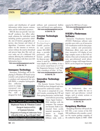 Marine Technology Magazine, page 52,  Mar 2006 littoral zone applications
