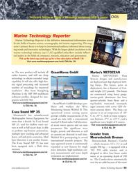 Marine Technology Magazine, page 53,  Mar 2006 chirp technology