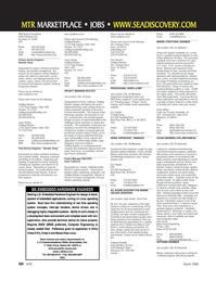 Marine Technology Magazine, page 58,  Mar 2006 California