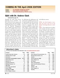 Marine Technology Magazine, page 62,  Mar 2006 Newfoundland