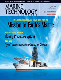 Marine Technology Magazine Cover Apr 2006 - The Offshore Technology Edition
