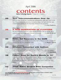 Marine Technology Magazine, page 2,  Apr 2006