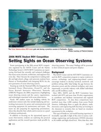 Marine Technology Magazine, page 42,  Apr 2006 Hawaii