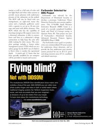 Marine Technology Magazine, page 9,  May 2006 FarSounder