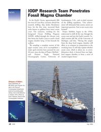 Marine Technology Magazine, page 10,  May 2006 Dave Fratantoni