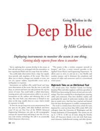 Marine Technology Magazine, page 22,  May 2006 wireless technology