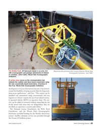 Marine Technology Magazine, page 25,  May 2006 W.M. Keck Foundation