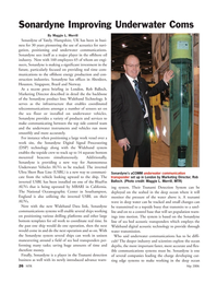 Marine Technology Magazine, page 26,  May 2006 California