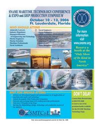 Marine Technology Magazine, page 1,  May 2006