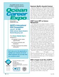 Marine Technology Magazine, page 54,  May 2006 Jill Zande