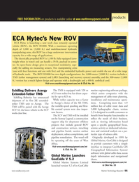 Marine Technology Magazine, page 55,  May 2006 GeoCable marine engineering software package