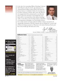 Marine Technology Magazine, page 4,  May 2006 Gulf of Mexico