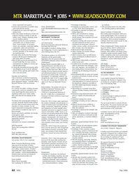 Marine Technology Magazine, page 62,  May 2006 Remote Sensing
