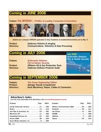 Marine Technology Magazine, page 64,  May 2006 Sea School