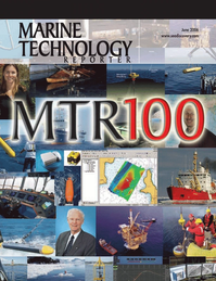 Marine Technology Magazine Cover Jun 2006 - The MTR 200