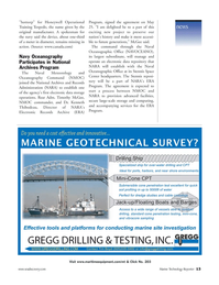 Marine Technology Magazine, page 13,  Jul 2006 Stennis Space Center