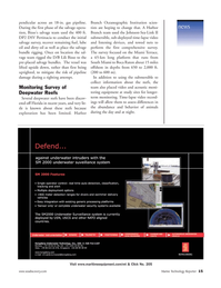 Marine Technology Magazine, page 15,  Jul 2006 Branch Oceanographic Institution