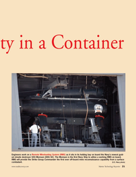 Marine Technology Magazine, page 21,  Jul 2006 Navy