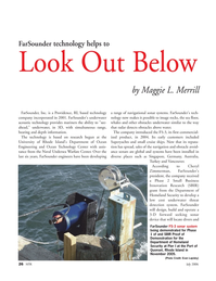 Marine Technology Magazine, page 26,  Jul 2006 FS-3