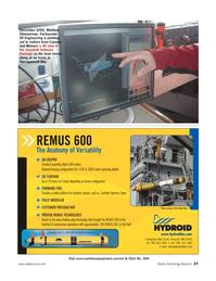 Marine Technology Magazine, page 27,  Jul 2006 Narragansett Bay