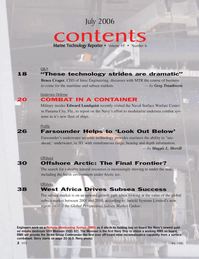 Marine Technology Magazine, page 2,  Jul 2006 Florida