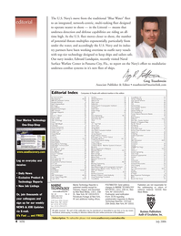 Marine Technology Magazine, page 4,  Jul 2006 2006 editorial Your Marine Technology