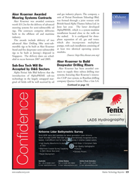Marine Technology Magazine, page 13,  Nov 2006 Laser