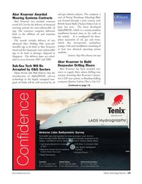 Marine Technology Magazine, page 13,  Nov 2006 Laser