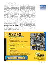 Marine Technology Magazine, page 15,  Nov 2006 Philippine Department of Energy