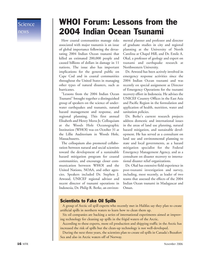 Marine Technology Magazine, page 16,  Nov 2006 Massachusetts