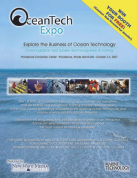 Marine Technology Magazine, page 2nd Cover,  Nov 2006