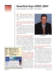 Marine Technology Magazine, page 20,  Nov 2006 northeastern Canada