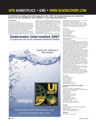 Marine Technology Magazine, page 56,  Nov 2006 AK Palmer TerraSond Ltd.