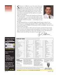 Marine Technology Magazine, page 4,  Nov 2006