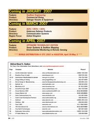 Marine Technology Magazine, page 64,  Nov 2006