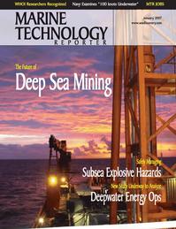 Marine Technology Magazine Cover Jan 2007 - Seafloor Engineering