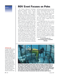 Marine Technology Magazine, page 8,  Jan 2007 Florida